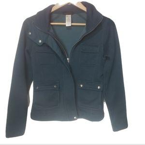 Patagonia moto jacket teal blue women's zip xs